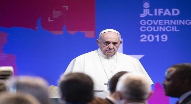 Il Papa all'Ifad: la fame non ha presente né futuro. Solo passato