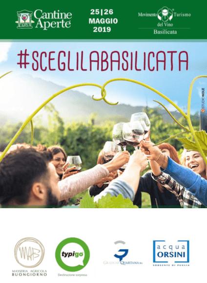 Cantine Aperte XXVII edizione sabato 25 e domenica 26 maggio 2019 #sceglilaBasilicata