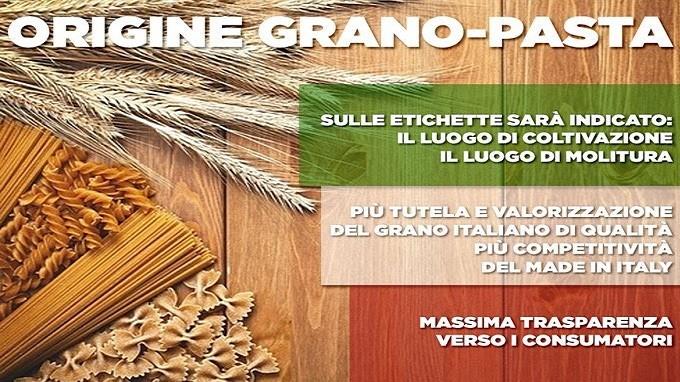 Con l'etichetta sulla pasta sale il grano italiano (+20%)