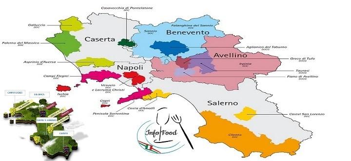Cilento Cartina Geografica.Italia Tra Le Vigne Della Costa Amalfitana Cilentana E Della Campania Italy Info Food