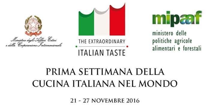 Al via la prima settimana della Cucina Italiana nel Mondo dal 21 al 27 novembre