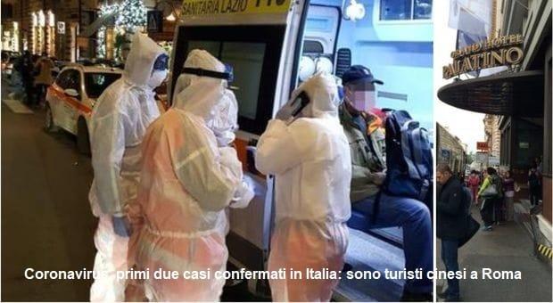 Coronavirus, primi due casi confermati in Italia: sono turisti cinesi a Roma. Chiuso il traffico aereo con la Cina