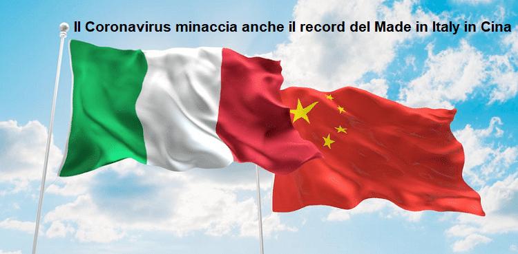 Il Coronavirus minaccia anche il record del Made in Italy in Cina