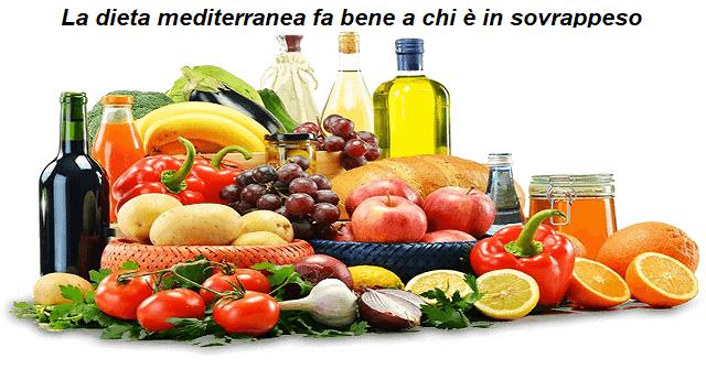 La dieta mediterranea fa bene a chi è in sovrappeso