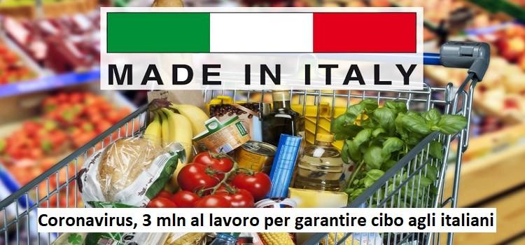 Coronavirus, 3 mln al lavoro per garantire cibo agli italiani