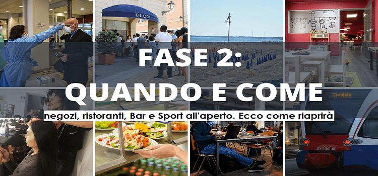 CORONAVIRUS: FASE 2 a MAGGIO, negozi, ristoranti, Bar e Sport all'aperto. Ecco come riaprirà