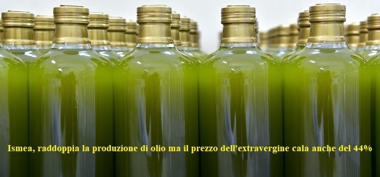 Ismea, raddoppia la produzione di olio ma il prezzo dell'extravergine cala anche del 44%