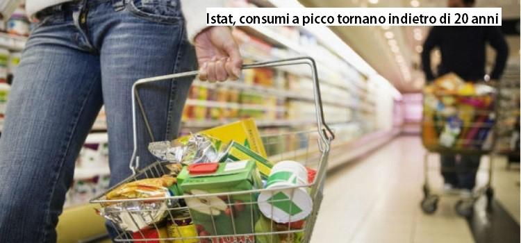 Istat, consumi a picco tornano indietro di 20 anni
