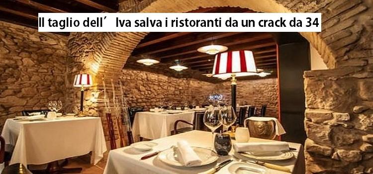 Il taglio dell'Iva salva i ristoranti da un crack da 34 mld