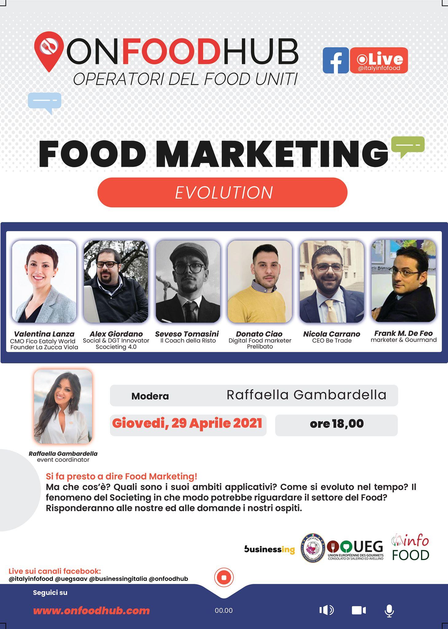 locandina food marketing evolution